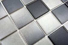 Mosaïque carreau céramique gris cuisine sol mur bain 16-2211-R10_b   1 plaque