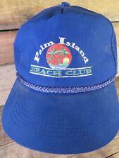 PALM ISLAND Beach Club Vintage Adjustable Adult Hat Cap