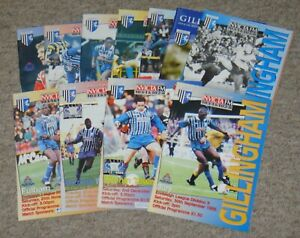 11 Gillingham Home Football Programmes – 1995-2011 – All Listed