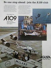 5/1977 PUB AGUSTA HELICOPTER HUBSCHRAUBER HELICOPTERE A109 OFFSHORE ORIGINAL AD