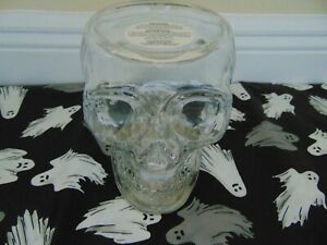 Bath and Body Works Light Up Skull 3 Wick Glass Candle Holder new