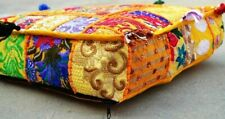 "Square 22"" Floor Vintage Patchwork Handmade Cushion Cover Bohemia Ethnic Outdoor"