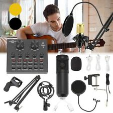 More details for uk condenser microphone live streaming studio recording gaming kit w/ mic mount