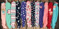 Carters Footed Fleece Blanket Sleeper Pajamas Fall Winter Girl Choose Color 6 Mo
