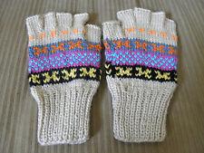 Brand New Alpaca Blended Fingerless Gloves Teen Adult XL Women Size #859