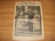 June 9th 1946, SUNDAY DISPATCH, Victory Day, King George VI, Lizabeth Scott.