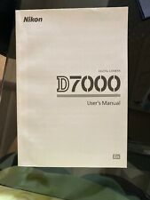 Nikon D7000 Digital Slr Camera System User Instruction Manual Ex