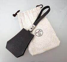 HERMES HERMÈS Clochette Leder Schlüsselanhänger Leather Keychains Grau 3197