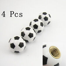 4 x Football Soccer Tyre Tire Valve Stems Air Dust Caps Cover For VW Jetta Golf