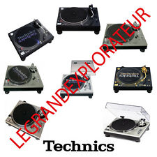 Technics SL1200  SL1210 MK2 MK5 LTD M3D M5G GLD Owner Repair Service Manual s