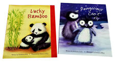 Lucky Bamboo Panda Bear Story Books Penguins Can't Fly Picture Book Set of 2 NEW