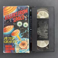 Killers From Space - Peter Graves - 1985 Scifi VHS Tape - Tested Plays Great!