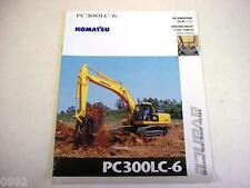 Komatsu Pc300Lc-6 Hydraulic Excavator Color Brochure