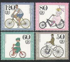 Germany (B) 1985 Bicycles/Bikes/Cycling/Transport/Youth Welfare 4v set (n35570)