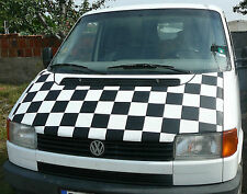Bonnet Cover Bra for Volkswagen VW Transporter T4 1991-1999  White Chequered