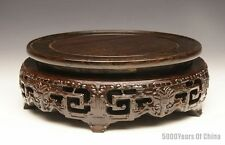 """4.25"""" - 10"""" Wonderful Chinese Handmade Hollow-Carved Blackwood Stand #BC12"""