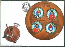 MOZAMBIQUE  2014 SOCCER SHEET FIRST DAY COVER