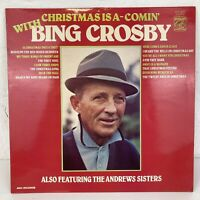 Bing Crosby CHRISTMAS IS A COMIN' feat. The Andrews Sisters - Vinyl LP Xmas 1976