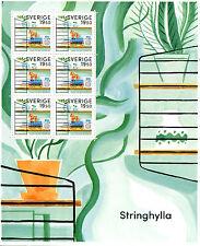 Sweden 2017 MNH Retro String Shelf 6v M/S Stamps