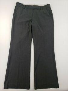 Ann Taylor LOFT Marisa Modern Dark Gray Dress Pants Size 10 Flare