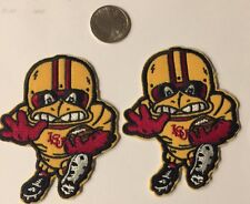 "(2)-ISU Iowa State Cyclones Vintage Embroidered Iron On Patches (Nice) 3""x 2"""