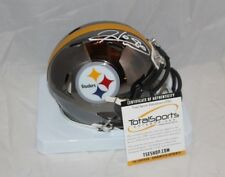 Hines Ward Autographed Signed Pittsburgh Steelers CHROME Mini Helmet 2 TSE