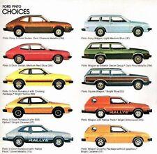 1980 Ford PINTO Brochure / Catalog: RUNABOUT,ESS,Station Wagon,Rallye,Cruising,
