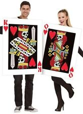 Couples Matching Ladies & Mens King & Queen Of Hearts Fancy Dress Costumes