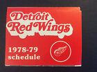 1978-79 Detroit Red Wings Hockey Pocket Schedule Labatt