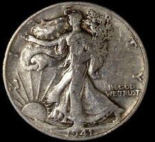 1941-D 50C Walking Liberty Half Dollar rwo 90% Silver  Free Shipping