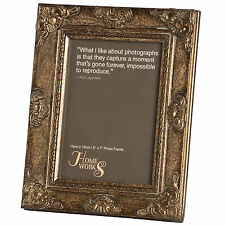 5 x 7 ANTIQUE GOLD GILDED Cadre Photo-penser à un événement heureux