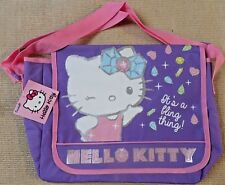 Girls Hello Kitty Character Messenger,Shoulder/School Bag ~ NEW