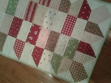 Handmade Quilted Table Runner in Mistletoe Lane fabrics