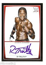 2015 Topps Wwe Road To Wrestlemania R-Truth Auto Autograph