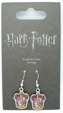 New Official Genuine Harry Potter Silver Plated Gryffindor Crest Earrings