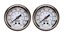 "2 Pack Viair 2"" Single Needle White  Face Gauge (90089) 220 PSI Max Air Ride"