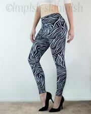 SHOSHO Black and White Zebra Swirl Stretch Knit Mini Skirt Leggings