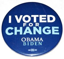 2008 BARACK OBAMA BIDEN campaign pin pinback button political president election