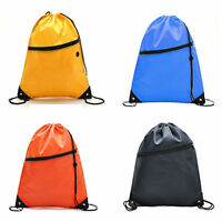 Waterproof School Drawstring Bags Outdoor Sport Gym Sack Swim Casual Backpack