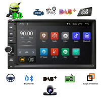 HD 7'' inch Double 2 DIN Car GPS Player Stereo Head Unit Sat Nav Android 9.0 DAB