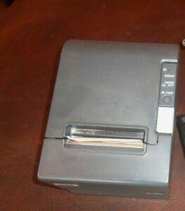 Epson TM-T88IV M129H black Thermal USB Charcoal POS Printer bundle power Supply
