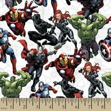 Marvel Comic Avengers Unite-Fq Fat quarter-100% Cotton-Quilting/Masks