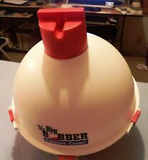 The Big Bobber Floating Cooler Red/White, Easy To Carry, Holds 12 Cans w/ Ice