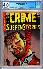CRIME SUSPENSTORIES #20 CGC 4.0 HISTORIC PRE-CODE EC CENSURE *USED IN SOTI* 1953
