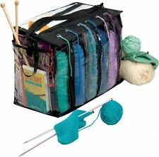 6 Skein Crocheting Organizer Holder Storage Knitting Yarn Craft Tote Bag Case