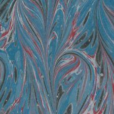Marmorpapier Buntpapier buchbinden marbled paper marbling bookbinding #5041