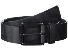 Designer Calvin Klein men Flat Strap Oversize Shiny Tonal Printed Logo Black 38