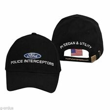 BRAND NEW OFFICIALLY LICENSED BLACK FORD POLICE CAR POLICE INTERCEPTORS HAT CAP!