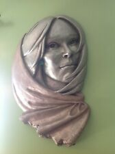 "Vintage Resin 1977 Vickers Native American Woman Face Sculpture 28"" tall"