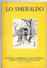 LO SMERALDO Rvista Letteraria 1955 n. 2 Maccari Strapaese Medici Purgoni